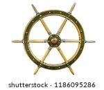 vintage wooden ship steering...   Shutterstock . vector #1186095286
