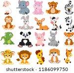 cartoon animals collection set | Shutterstock .eps vector #1186099750