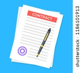 contract. document with stamp... | Shutterstock .eps vector #1186101913