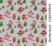 vector seamless pattern with...   Shutterstock .eps vector #1186105843