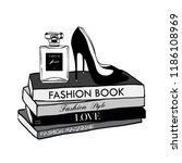 vector fashion illustration.... | Shutterstock .eps vector #1186108969