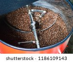 close up of coffee bean in... | Shutterstock . vector #1186109143