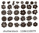 big set of flowers and herbs.... | Shutterstock .eps vector #1186110079