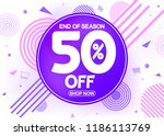 sale poster design template  50 ... | Shutterstock .eps vector #1186113769