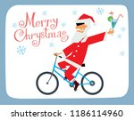 postcard with the new year. a...   Shutterstock .eps vector #1186114960