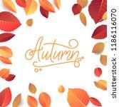 autumn lettering. hand written... | Shutterstock .eps vector #1186116070