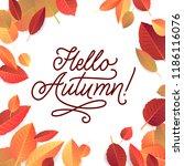 autumn lettering. hand written... | Shutterstock .eps vector #1186116076