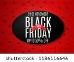 black friday. web banner  logo  ... | Shutterstock .eps vector #1186116646
