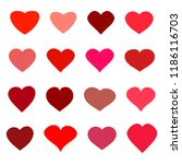 heart icons set | Shutterstock .eps vector #1186116703