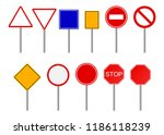 road signs set | Shutterstock .eps vector #1186118239