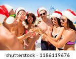 to the new year  happy chilling ...   Shutterstock . vector #1186119676