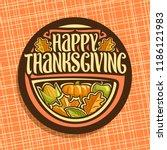 vector logo for thanksgiving... | Shutterstock .eps vector #1186121983