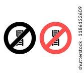 dna ban  prohibition icon....