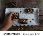 brownies with coffee and... | Shutterstock . vector #1186133170