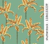 palm trees seamless pattern... | Shutterstock .eps vector #1186133239