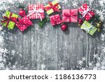 christmas background with... | Shutterstock . vector #1186136773