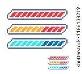 life bar 8 bit elements pixel... | Shutterstock .eps vector #1186138219