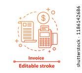 invoice concept icon. money... | Shutterstock .eps vector #1186142686