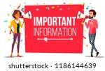 important information attention ... | Shutterstock . vector #1186144639
