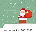 snow globe with christmas santa ...   Shutterstock .eps vector #118615108