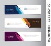 vector abstract banner design...   Shutterstock .eps vector #1186152430
