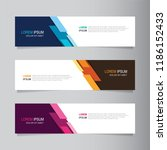 vector abstract banner design... | Shutterstock .eps vector #1186152433