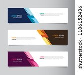 vector abstract banner design... | Shutterstock .eps vector #1186152436