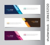 vector abstract banner design... | Shutterstock .eps vector #1186152520