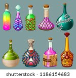 cartoon magical drinks or... | Shutterstock .eps vector #1186154683