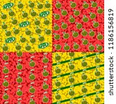 seamless patterns with fruits.... | Shutterstock .eps vector #1186156819