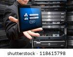 tablet and password security... | Shutterstock . vector #118615798