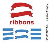 set of ribbons for anniversary. ... | Shutterstock .eps vector #1186159699