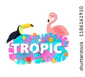 word tropic composition with... | Shutterstock .eps vector #1186161910