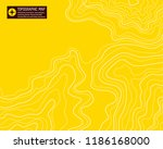 topographic map  yellow  vector ... | Shutterstock .eps vector #1186168000