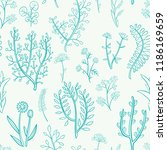 seamless pattern of hand drawn... | Shutterstock .eps vector #1186169659