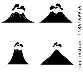 volcano icon  silhouette  logo... | Shutterstock .eps vector #1186169956