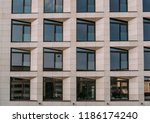 abstract facade of new modern... | Shutterstock . vector #1186174240