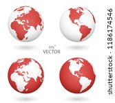 a set of four globes. each of... | Shutterstock .eps vector #1186174546