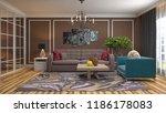 interior of the living room. 3d ...   Shutterstock . vector #1186178083