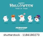 vintage halloween poster design ... | Shutterstock .eps vector #1186180273
