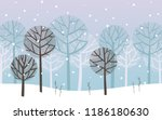 winter landscape  forest under... | Shutterstock .eps vector #1186180630