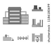 factory and facilities... | Shutterstock .eps vector #1186180699