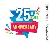 creative emblem 25 th years... | Shutterstock .eps vector #1186181383
