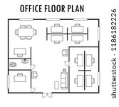 architecture plan with... | Shutterstock .eps vector #1186182226