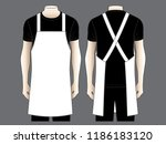men's white apron design vector | Shutterstock .eps vector #1186183120
