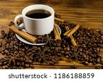 cup of coffee  roasted coffee...   Shutterstock . vector #1186188859
