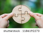 closeup hand of connecting... | Shutterstock . vector #1186192273