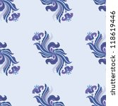 floral seamless background | Shutterstock .eps vector #118619446
