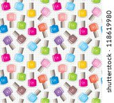 seamless nail polish pattern.... | Shutterstock .eps vector #118619980
