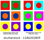 complementary colors in the... | Shutterstock .eps vector #1186202809